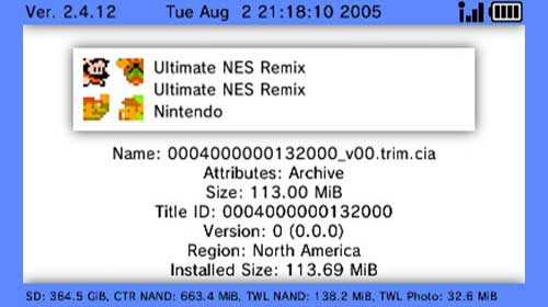 Add CIA Files to 3ds